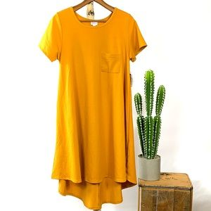 LuLaRoe Carly Mustard Yellow Dress Medium